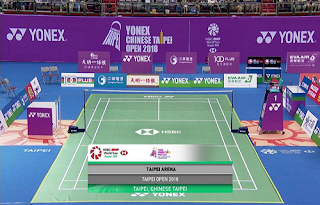 Yonex China Taipei Open Biss Key Eutelsat 7A/7B 6 October 2018