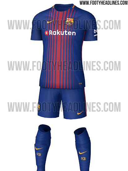best service e055a 4709e First Look At Barcelona's New 2017/2018 Home Kit - SPORTbible