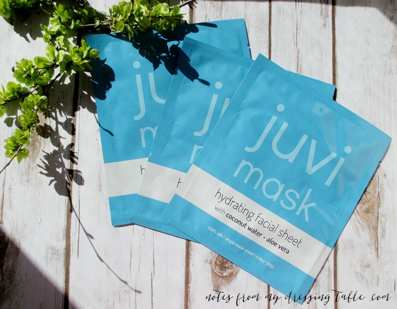 Juvi Mask Hydrating Facial Sheets | My Notes Review notesfrommydressingtable.com