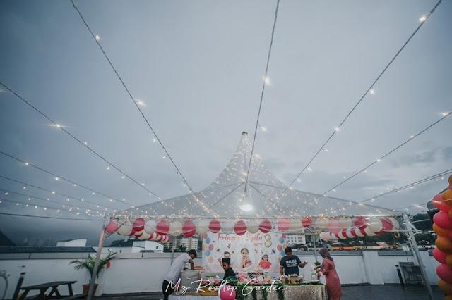 Dekorasi Majlis sambutan Hari Lahir di MZ Rooftop Garden