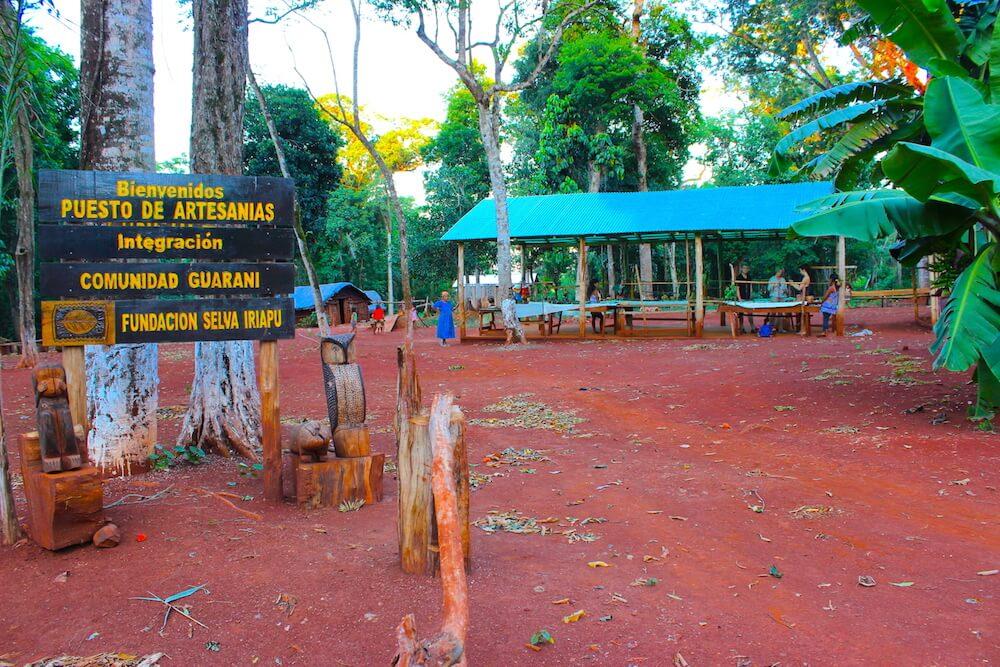 indigenous community iriapu entrance