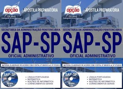 apostila da Sap-Sp 2018 Oficial Administrativo