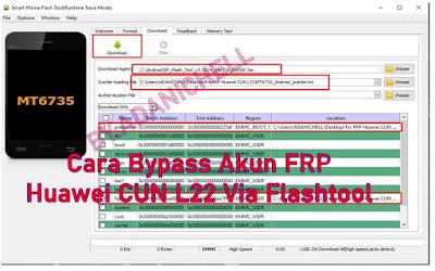 Cara Bypass Akun FRP Huawei CUN L22 Via Flashtool