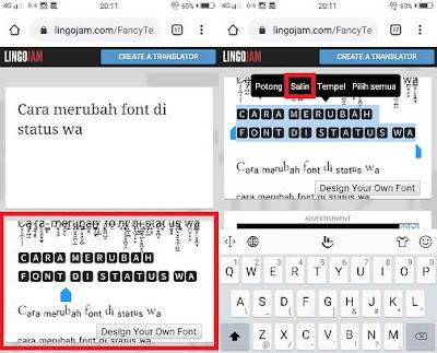 cara mengubah font di status whatsapp tanpa aplikasi