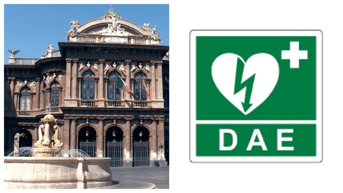 Nuovo defibrillatore in Piazza Teatro Massimo