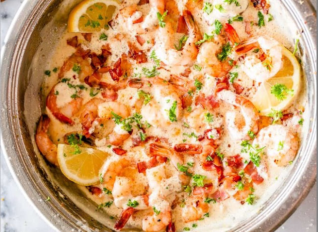 Creamy Garlic Shrimp With Parmesan (Low Carb) #lowcarb #recipes
