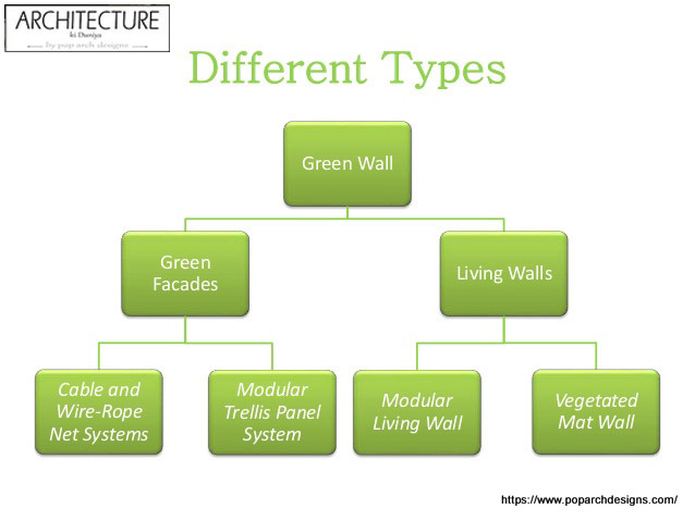 Types of green wall