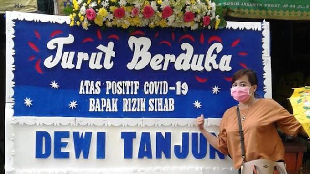 Kirim Karangan Bunga HR5 Positif Covid-19, Dewi Tanjung Bakal Dipolisikan PA 212