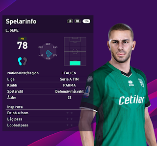 PES 2020 Faces Luigi Sepe by Random Facemaker