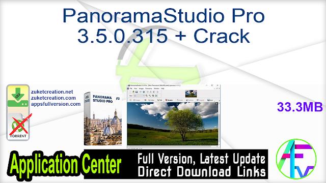 PanoramaStudio Pro 3.5.0.315 + Crack