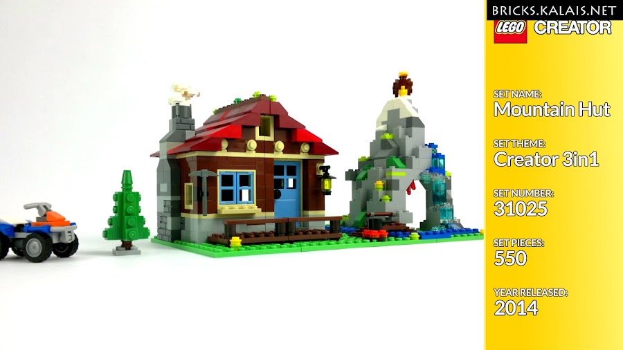 1. LEGO 31025 - Chatka w górach - orginał