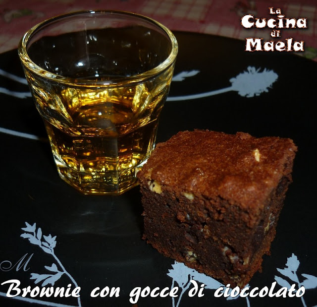 Brownie con le gocce di cioccolato