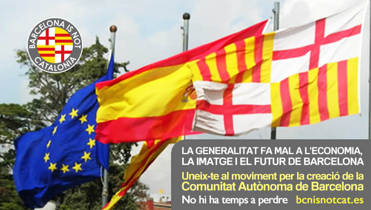Campaña de la plataforma Barcelona is not Catalonia