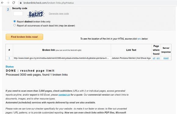 Cara buang broken link dalam blog