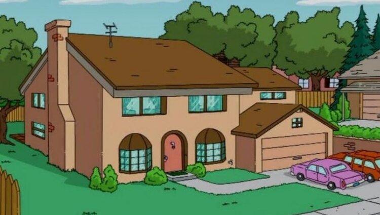 Triste final, la historia secreta y oculta de la casa de Los Simpson en la vida real