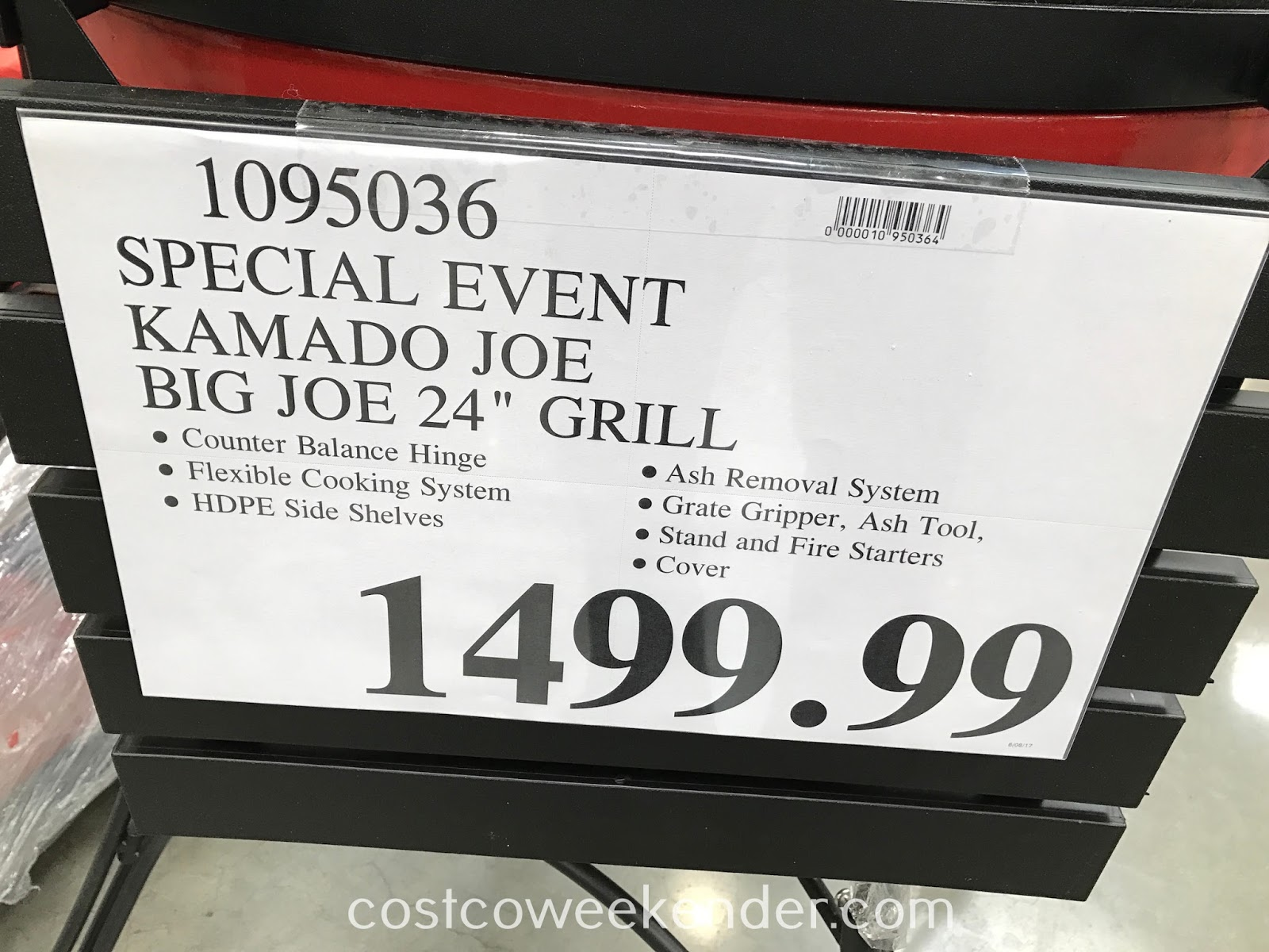 Costco 1095036 - Kamado Joe Big Joe 24-inch Grill: get it quick during the Costco special event