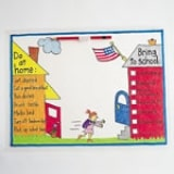 Home-to-school Place Mats - Step 1