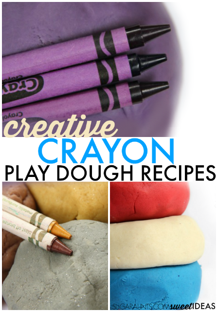 Super popular crayon play dough recipes.