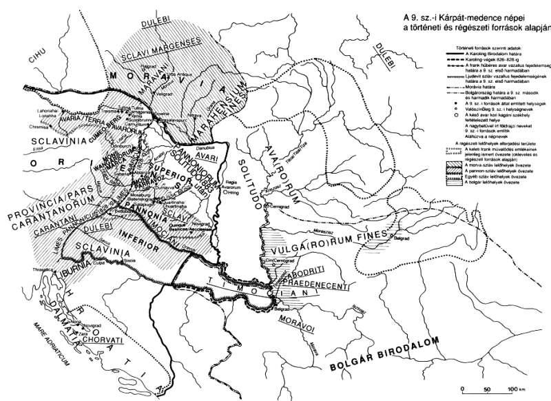 9. stročie na maďarských mapách