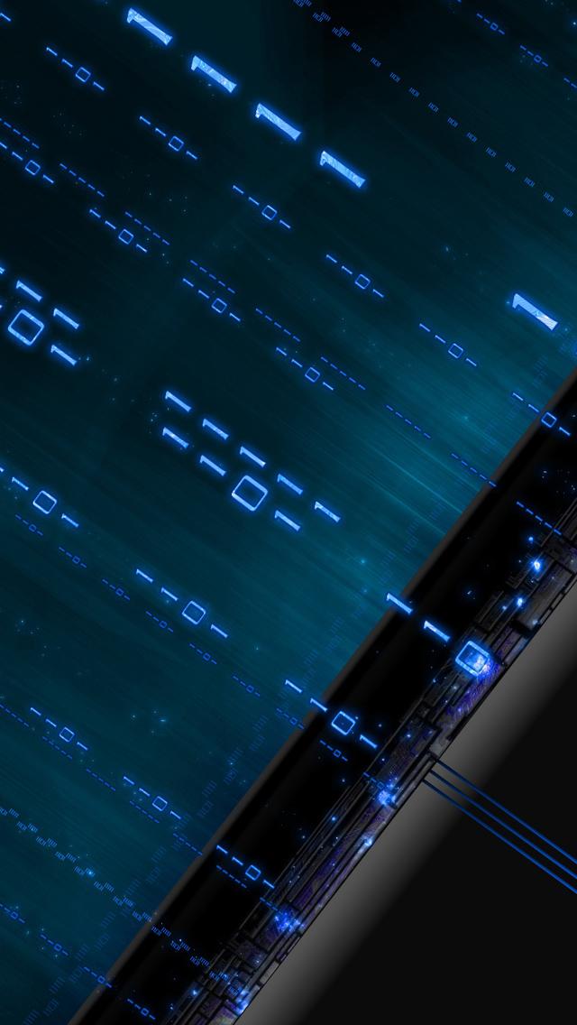 Papel de Parede Código Binário Celular