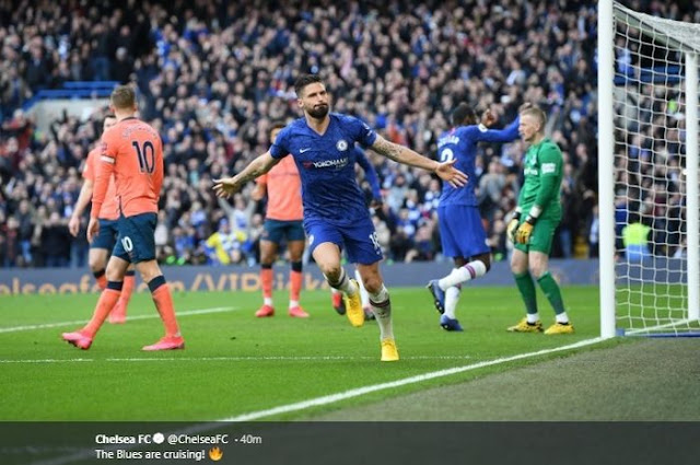 Chelsea won a huge victory 0-4
