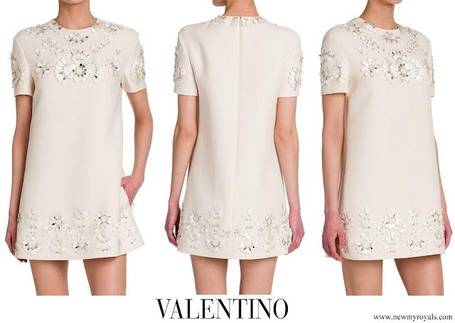 Meghan Markle wore Valentino ivory embellished shift dress