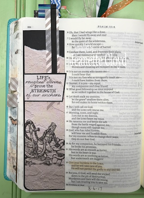 ODBD Anchor the Soul, Bible Journal Page by Jeanette Cloyd aka Forest Ranger