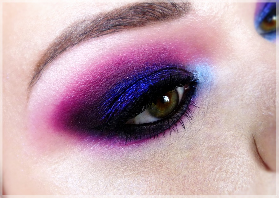 pink violett lila eye makeup