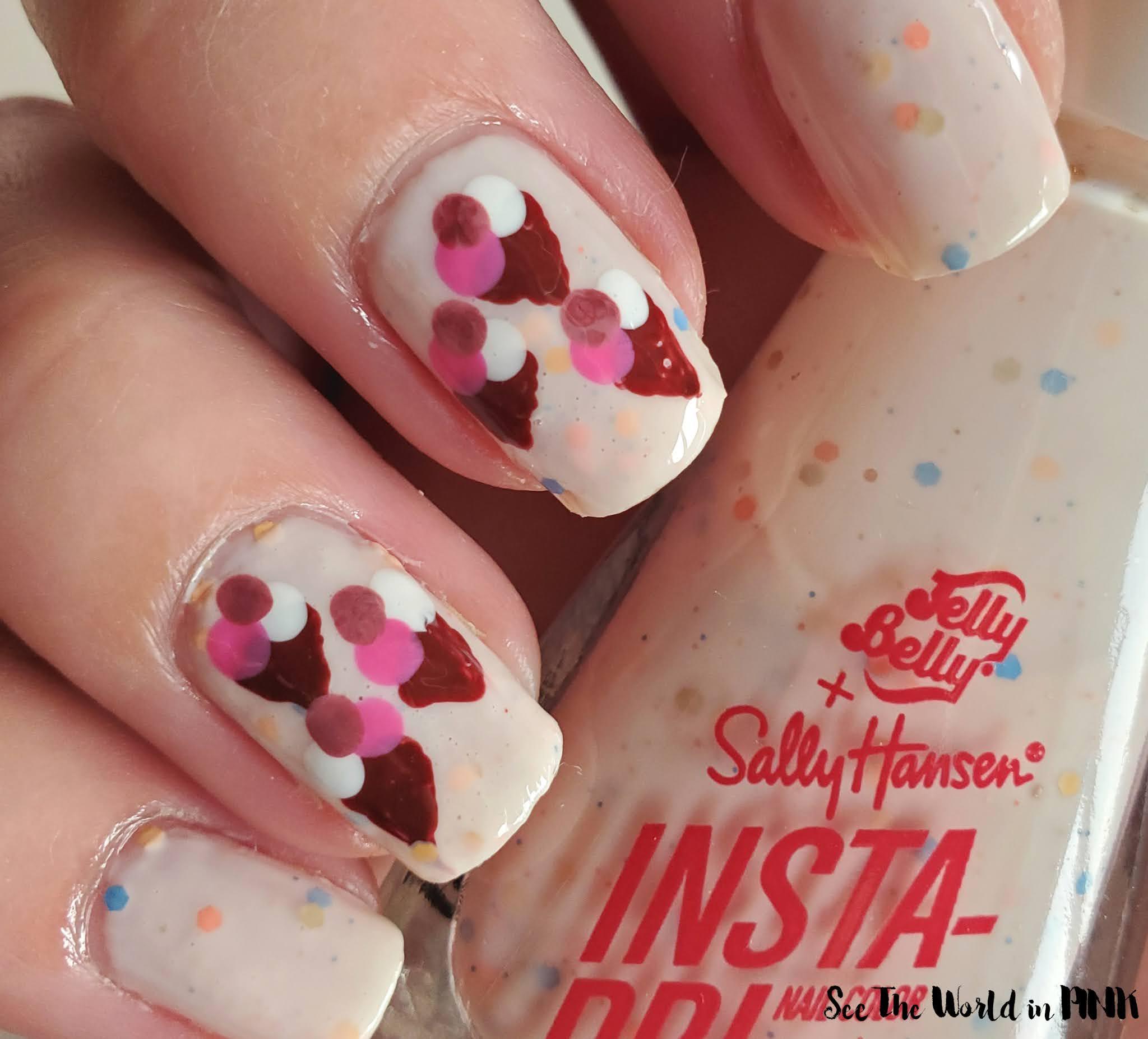Manicure Monday - Mini Ice Cream Cone Nail Art
