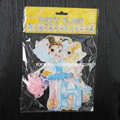 Bunting Banner HAPPY BIRTHDAY Motif Tinkerbell