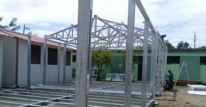 PRONIED: Iniciaron trabajos de instalación de módulos educativos para la IE San Ramón de Morropón en Piura - www.pronied.gob.pe