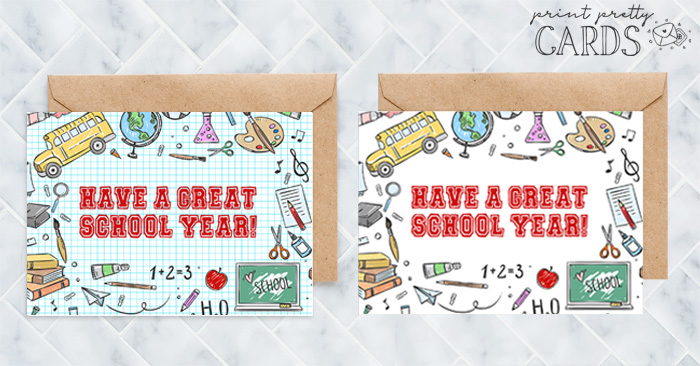 First Day of School Cards