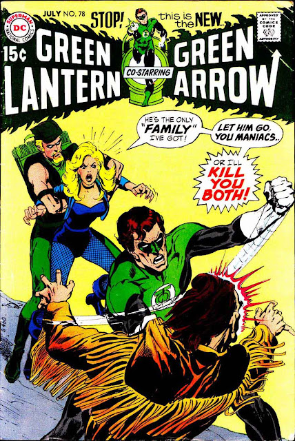 Green Lantern Green Arrow #78 dc comic book cover art by Neal Adams