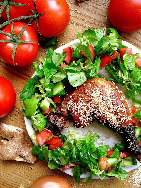 Kurczak z sezamem w sojowej marynacie / Baked Sesame Soy Chicken