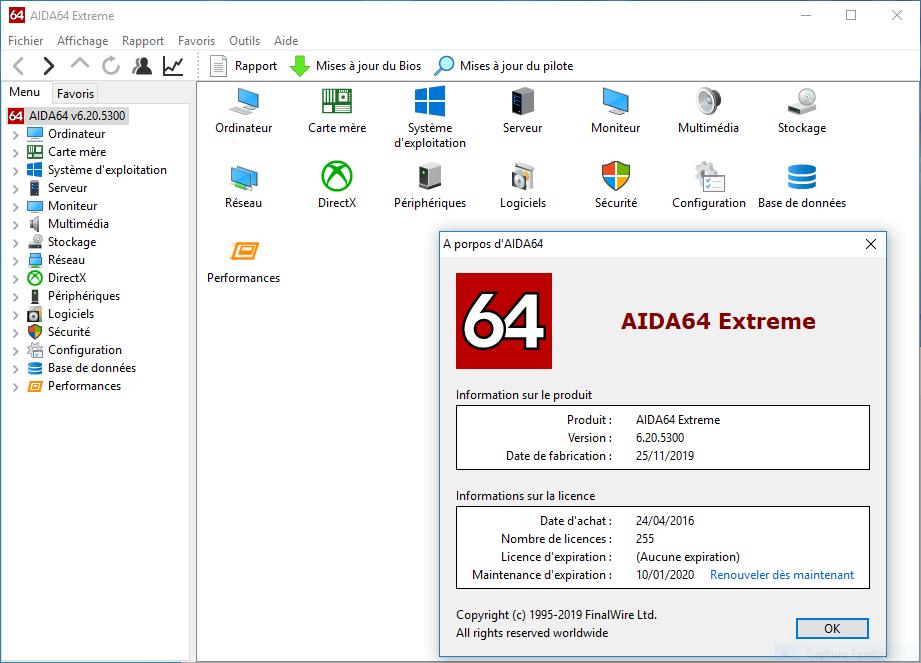 تحميل برنامج ممتاز لتحديد واختبار جميع مكونات جهاز الكمبيوتر لديك AIDA64 Extreme 6.20.5300