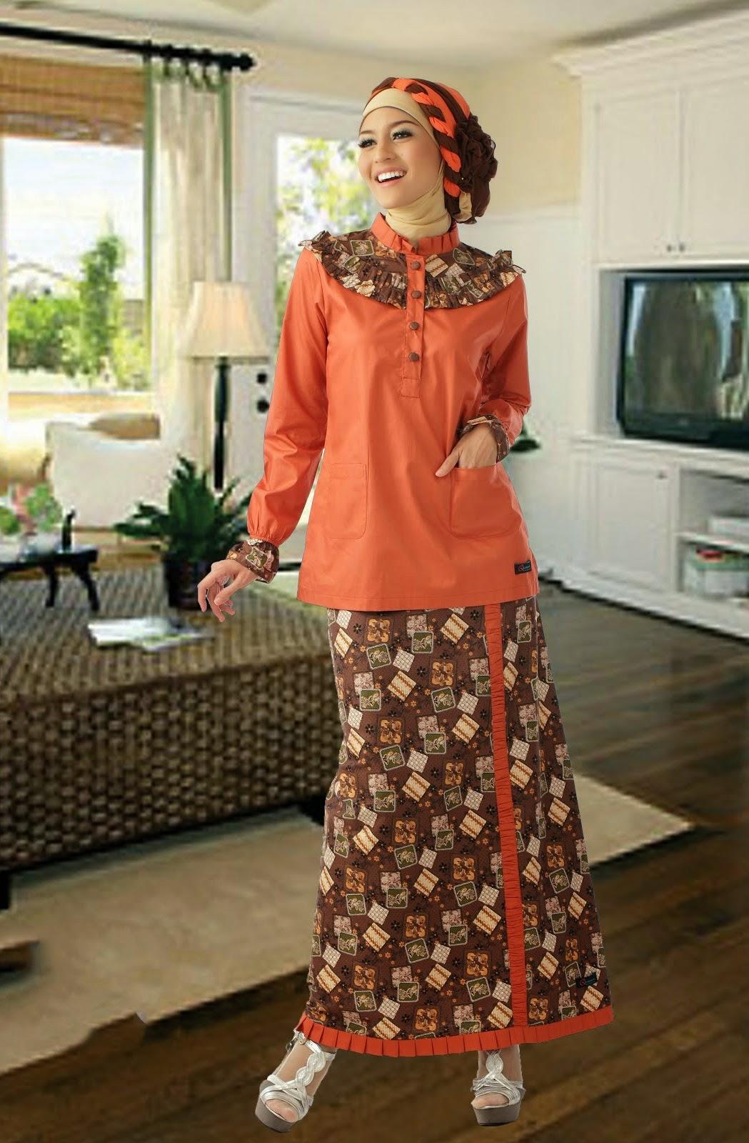 Model Baju Batik Muslim Couple Terbaru Elegan Contoh Model