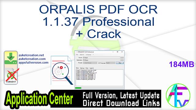 ORPALIS PDF OCR 1.1.37 Professional + Crack