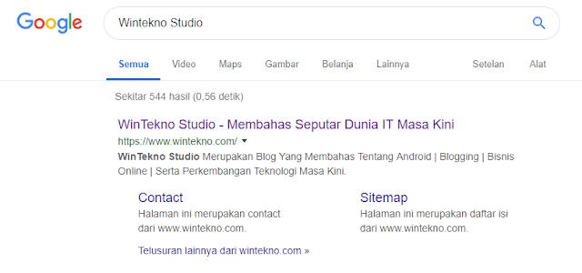 Contoh Sitelink Wintekno Studio
