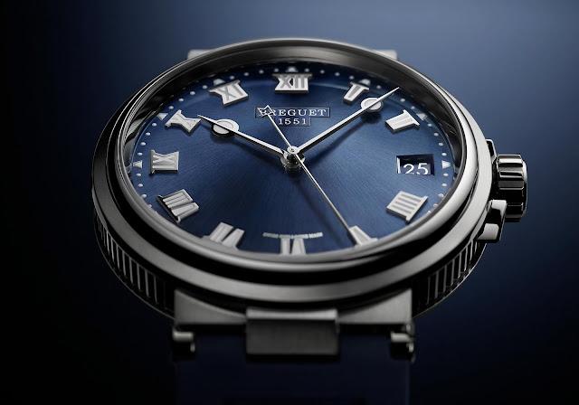 Breguet Marine 5517 in titanium with blue dial