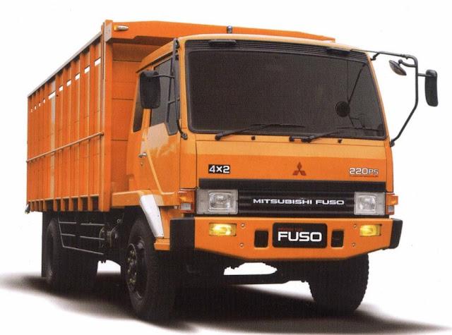 truk tonton fuso orange