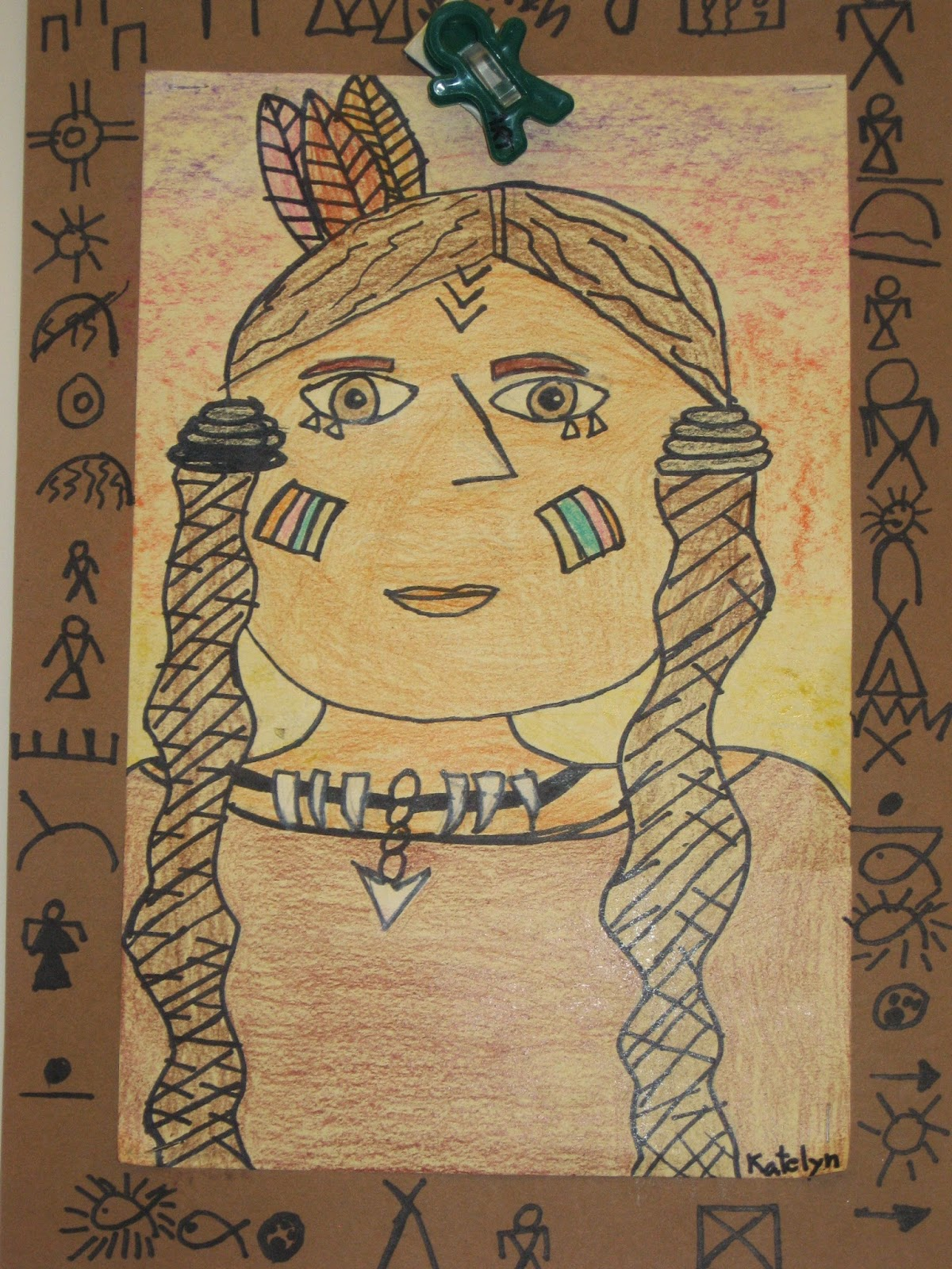 Jamestown Elementary Art Blog 2nd Grade Native American Portraits