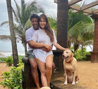 Leander Paes And Kim Sharma At Pousada By The Beach