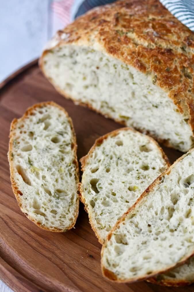 No Knead Herb Bread