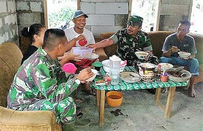 Makan Siang Bersama Sembari Bahas Perkembangan TMMD