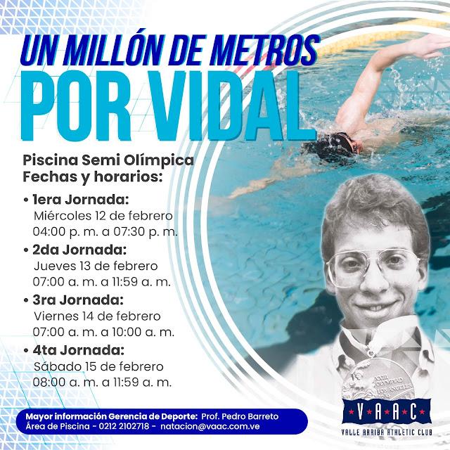"""NATACIÓN: En el VAAC durante cuatro días: """"Un millón de metros por Rafael Vidal"""""""