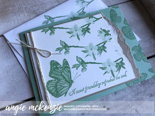 Global Creative INKspirations - New Annual Catalog | CARD/ENVELOPE FLAP:  Butterfly Wishes by Stampin' Up!® | Nature's INKspirations by Angie McKenzie