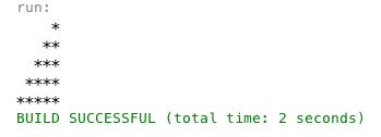Membuat Pola Segitiga Menggunakan Java Netbeans