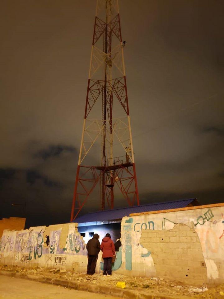 Una de las antenas de transmisión ubicada en Ciudad Satélite donde quedaron afectadas las señales de Unitel y TVU / RRSS