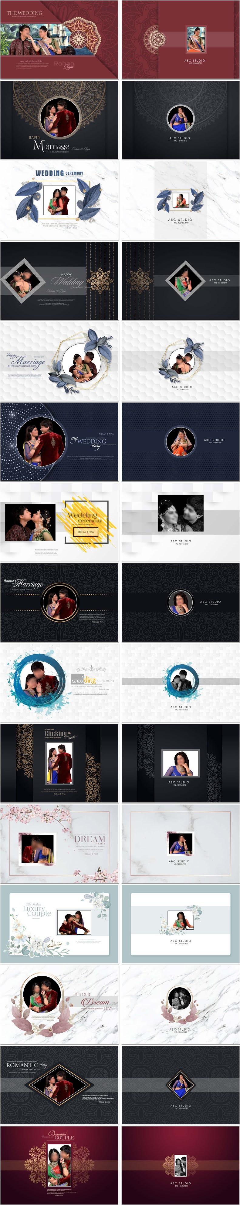 Luxury Photo Album 12x18 Cover Designs Vol-02