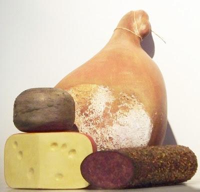 imitacion pata de jamon, imitacion quesos, quesos de utileria, quesos de telgopor, réplica de alimentos